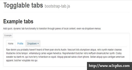 Togglable tabs bootstrap-tab.js