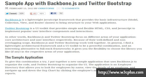 Sample App with Backbone.js and Twitter Bootstrap