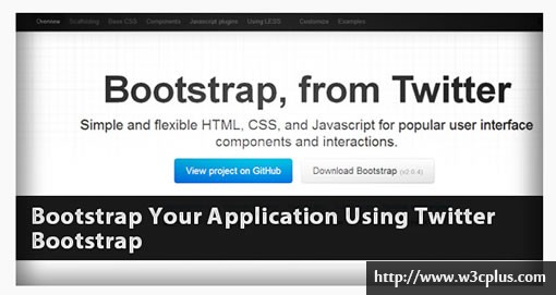 Bootstrap Your Application Using Twitter Bootstrap