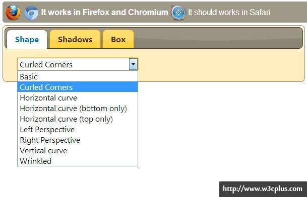 CSS3 Drop Shadows