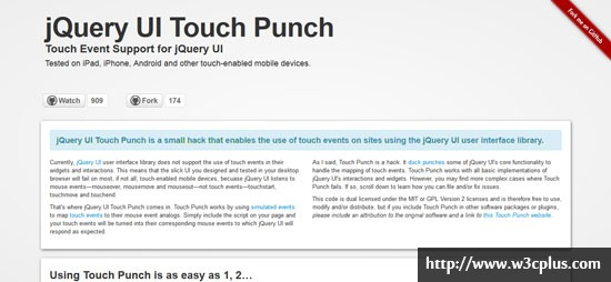 jQuery UI Touch Punch