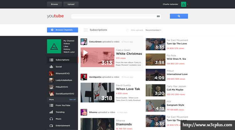 Youtube - Web Redesign Concept