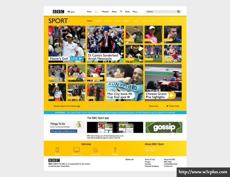 BBC Website - Web Redesign Concept