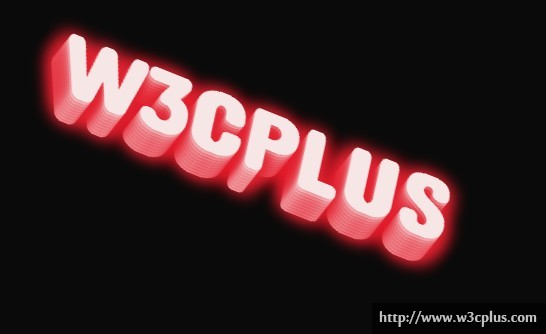 CSS3 Glowing Text Effect